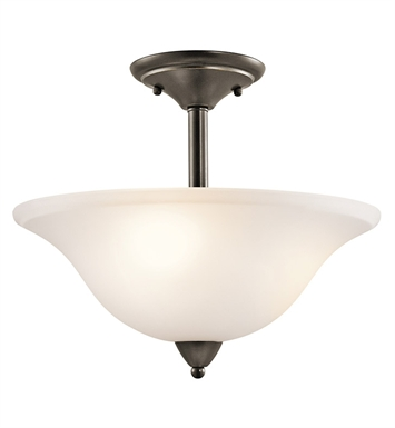 Kichler 42879OZ Nicholson Collection Semi Flush 3 Light in Olde Bronze