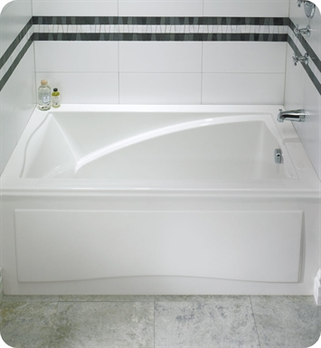 "Neptune DJ3260CD Delight 60"" x 32"" Customizable Rectangular Bathroom Tub with Integral Skirt With Jet Mode: Whirlpool + Mass-Air Jets And Drain Position: Right Side - Integrated Tiling Flange"