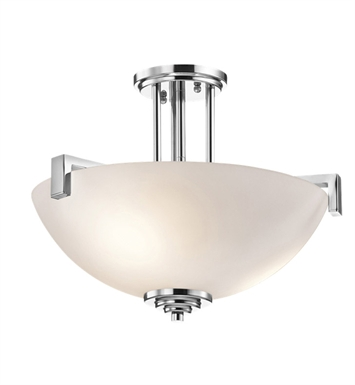 Kichler 3797CH Eileen Collection Semi Flush 3 Light in Chrome