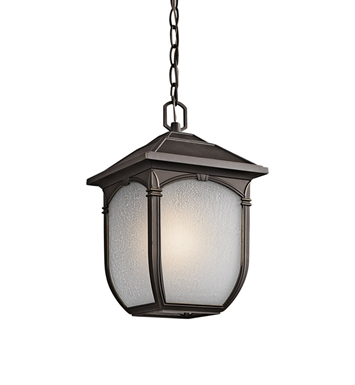 Kichler 49432RZ Outdoor Pendant 1 Light in Rubbed Bronze