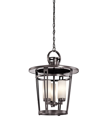 Kichler 49458AZ Outdoor Pendant 3 Light in Architectural Bronze