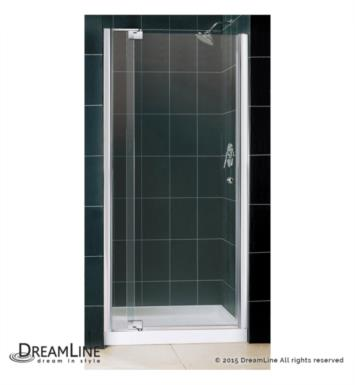 "DreamLine DL-6435R-01CL Allure Frameless Pivot Shower Door Single Threshold Shower Base With Dimensions: W 60"" x D 36"" x H 75 3/4"" And Finish: Chrome And Drain Position: Right Hand Drain"