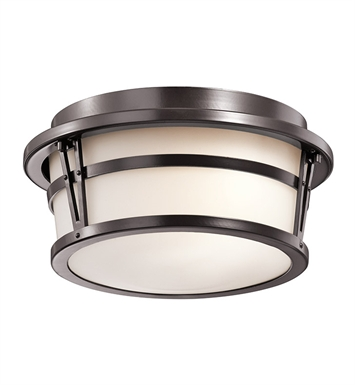 Kichler 49460AZ Outdoor Ceiling 2 Light in Architectural Bronze