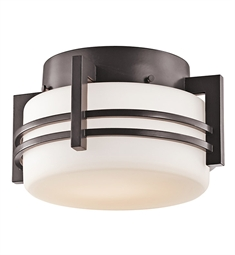 Kichler Outdoor Flush Mount 1 Light in Architectural Bronze