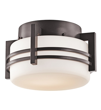 Kichler 9557AZ Outdoor Flush Mount 1 Light in Architectural Bronze