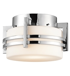 Kichler Outdoor Flush Mount 1 Light in Polished Stainless Steel