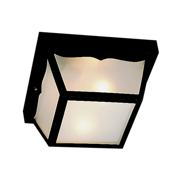 Kichler 9320BK Outdoor Flush Mount 1 Light With Finish: Black