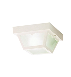 Kichler Outdoor Flush Mount 1 Light in White