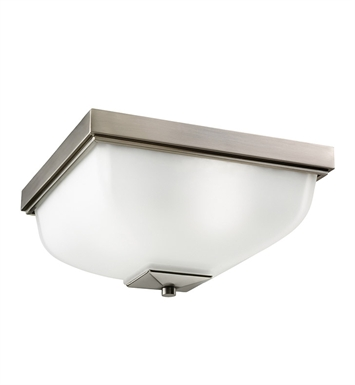 Kichler 9817AP Outdoor Flush Mount 2 Light in Antique Pewter