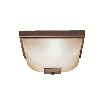 Kichler 9817OZ Outdoor Flush Mount 2 Light in Olde Bronze
