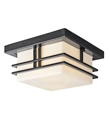 Kichler 49206BKFL Outdoor Flush Mount 2 Light With Finish: Black