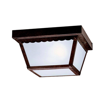 Kichler 345TZ Outdoor Flush Mount 2 Light in Tannery Bronze