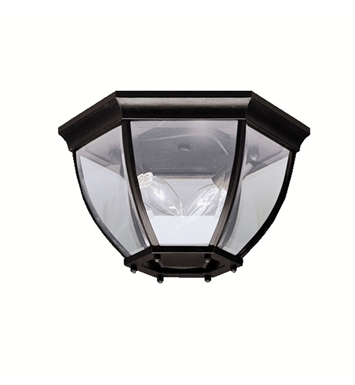 Kichler 9886BK Outdoor Flush Mount 2 Light With Finish: Black