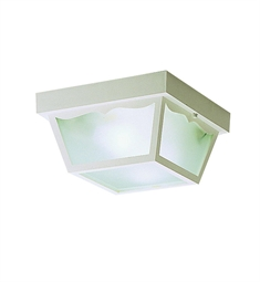 Kichler Outdoor Flush Mount 2 Light in White