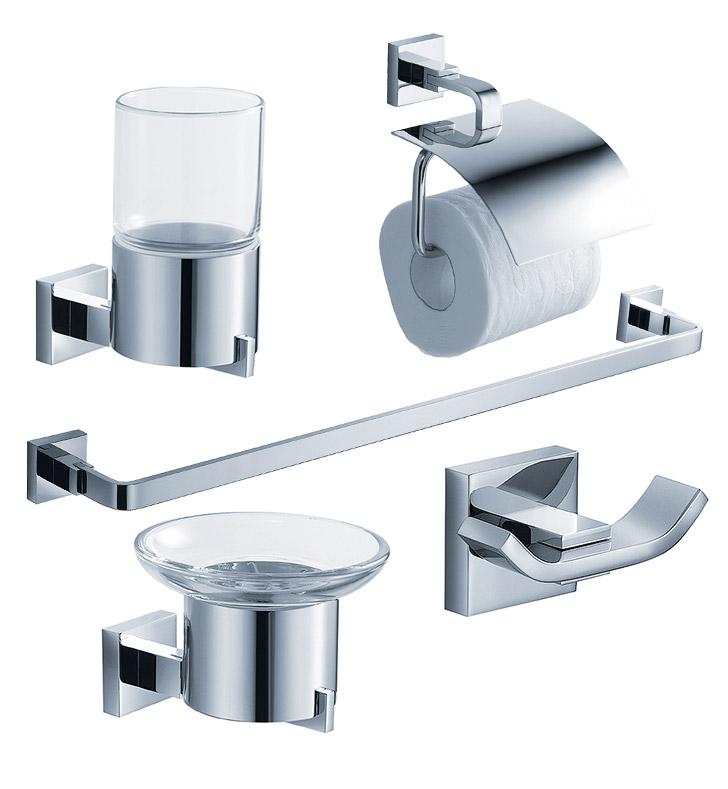 fresca fac1100 glorioso 5 piece bathroom accessory set in chrome