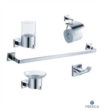 Fresca Glorioso 5 Piece Bathroom Accessory Set in Chrome