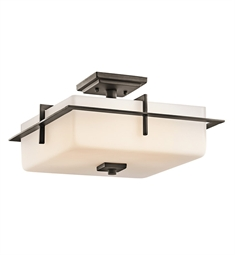 Kichler Outdoor Semi Flush Mount 3 Light in Olde Bronze