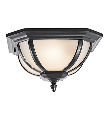 Kichler 9848BK Outdoor Flush Mount 2 Light With Finish: Black