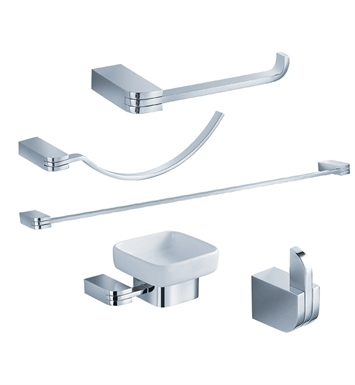 Fresca FAC1300 Solido 5 Piece Bathroom Accessory Set in Chrome