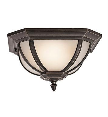 Kichler 9848RZS Outdoor Flush Mount 2 Light