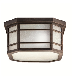 Kichler Outdoor Flush Mount 3 Light in Prairie Rock