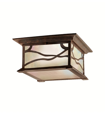 Kichler 9838DCO Outdoor Flush Mount 2 Light in Distressed Copper