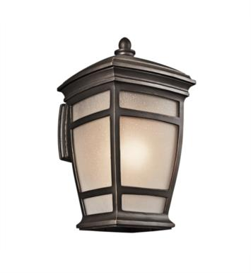 "Kichler 49273RZ McAdams 1 Light 12"" Incandescent Outdoor Wall Sconce in Rubbed Bronze"