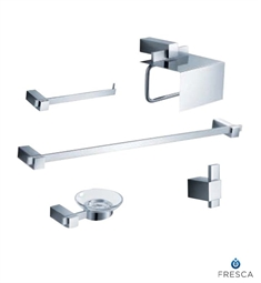 Fresca FAC1400 Ellite 5 Piece Bathroom Accessory Set in Chrome