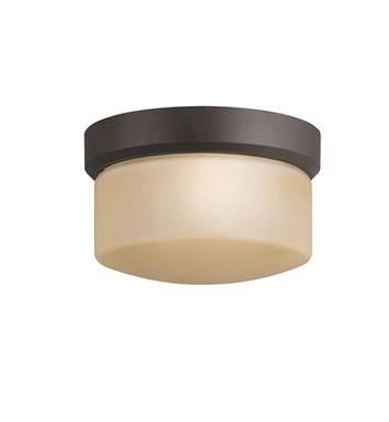 Kichler 7002AZ Outdoor Flush Mount 1 Light in Architectural Bronze