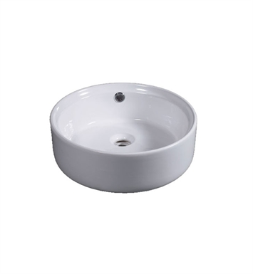 Eago BA129 16 inch Round Ceramic Above Mount Bathroom Basin