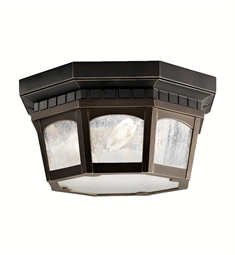 Kichler Outdoor Flush Mount 3 Light in Rubbed Bronze