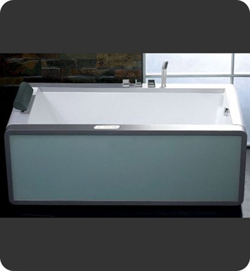 Eago AM151-R Right Drain 6 foot Modern Whirlpool Bath Tub