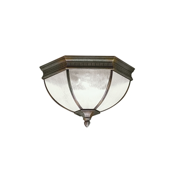 Kichler 9881TZ Outdoor Flush Mount 2 Light in Tannery Bronze