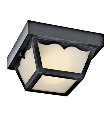 Kichler 11027BK Outdoor Flush Mount 2 Light Fluorescent in Black