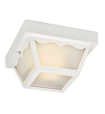 Kichler 11027WH Outdoor Flush Mount 2 Light Fluorescent in White