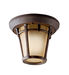 Kichler Outdoor Flush Mount 1 Light in Aged Bronze