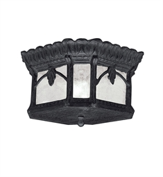 Kichler Outdoor Flush Mount 2 Light in Textured Black