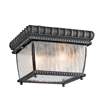 Kichler 49136BKG Outdoor Flush Mount 2 Light With Finish: Black W/Gold