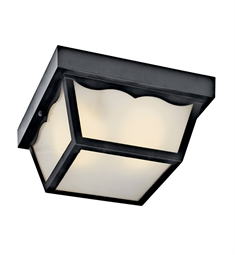 Kichler Outdoor Flush Mount 1 Light Fluorescent in Black
