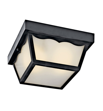 Kichler 11026BK Outdoor Flush Mount 1 Light Fluorescent in Black