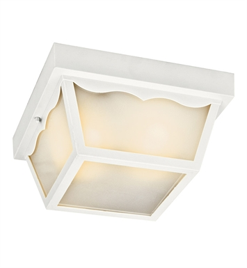 Kichler 11026WH Outdoor Flush Mount 1 Light Fluorescent in White