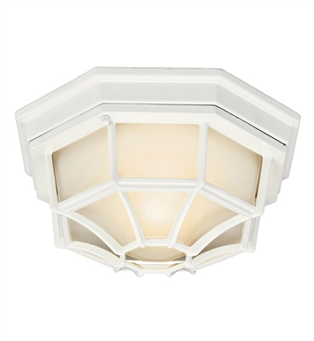 Kichler 11028WH Outdoor Flush Mount 1 Light Fluorescent in White