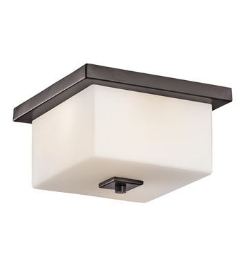 Kichler 49343AZ Outdoor Flush Mount 2 Light in Architectural Bronze