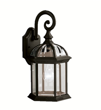 Kichler 9735BK Barrie Collection 1 Light Outdoor Wall Sconce in Black