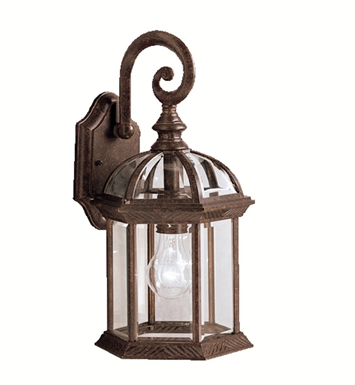 Kichler 9735TZ Barrie Collection 1 Light Outdoor Wall Sconce in Tannery Bronze