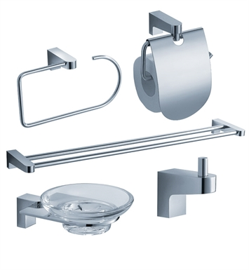 Fresca FAC2300-D Generoso 5 Piece Bathroom Accessory Set in Chrome with Double Towel Bar