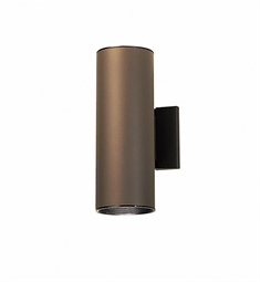 Kichler Modern 2 Light Outdoor Wall Sconce in Architectural Bronze