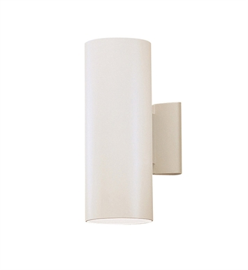 Kichler 9244WH Modern 2 Light Outdoor Wall Sconce in White