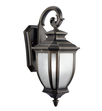 Kichler 9040RZ Salisbury Collection 1 Light Outdoor Wall Sconce in Rubbed Bronze