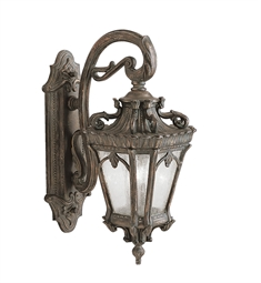 Kichler 9357LD Tournai Collection 2 Light Large Closed Bottom Outdoor Wall Sconce in Londonderry